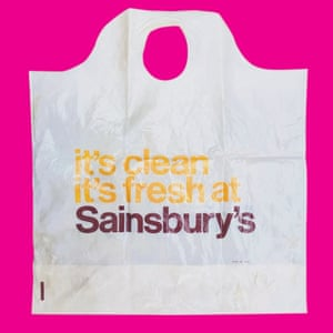 From a collection of vintage carrier plastic bags collected by artist Aaron Thompson.