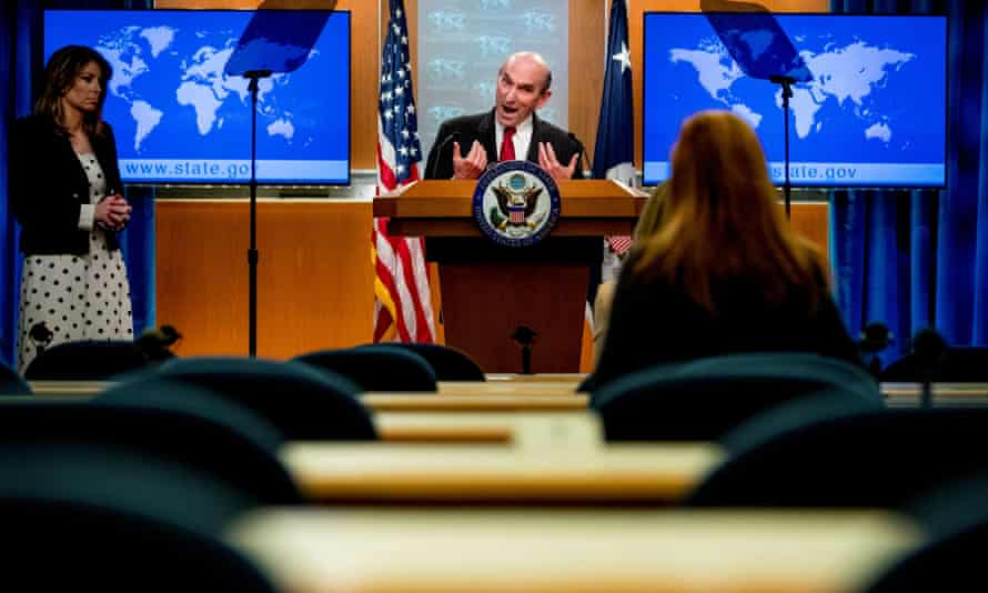 Elliott Abrams, the US special representative for Venezuela; said: 'The hope is that this set-up promotes the selection of people who are very broadly respected and known as people who can work with the other side.'