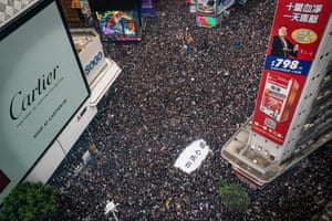 Large numbers of protesters rally on hong Kong's streets