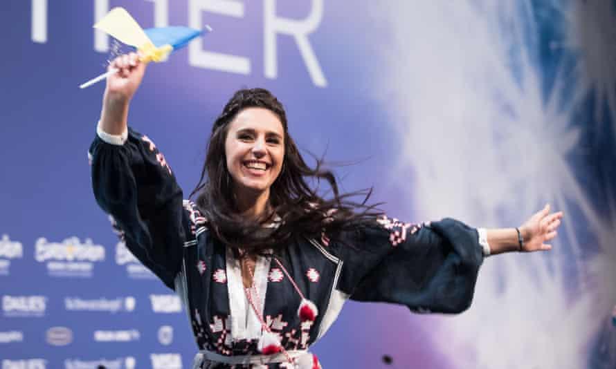 Jamala of Ukraine, the winner of the 2016 Eurovision Song Contest