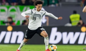 Leroy Sané in action against Serbia on Wednesday