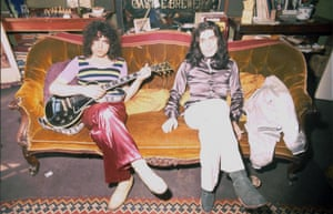 Team spirit ... with Mickey Finn, who joined Bolan's band in its Tyrannosaurus Rex guise, in 1971.