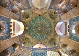 The ceiling at Jameh mosque, Yazd