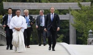 Donald Tusk at the G7 summit