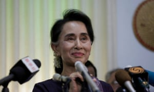 Aung San Suu Kyi announced that her National League for Democracy (NLD) party will contest the country's upcoming general election on November 8.