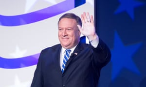 The secretary of state, Mike Pompeo, was one of several high-profile Republican figures to address the Values Voter Summit.
