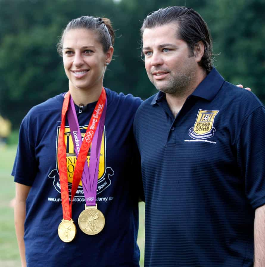 Carli Lloyd and James Galanis have forged a strong bond during their 13 years working together.