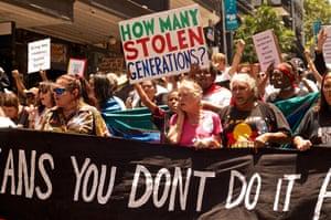 A stolen generations protest