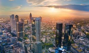 The Frankfurt skyline.