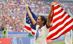 Christen Press won the World Cup with the US earlier this month