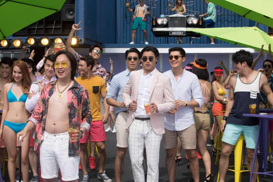 Remy Hii (second from right) as Alistair Cheng in Crazy Rich Asians