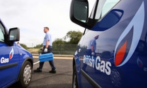 A British Gas engineer and branded van