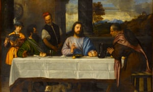 Detail from Titian's The Supper at Emmaus.