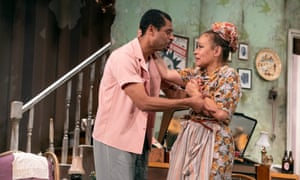 Karl Collins and Martina Laird in Shebeen at Nottingham Playhouse