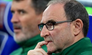 Republic of Ireland manager Martin O'Neill and his assistant Roy Keane