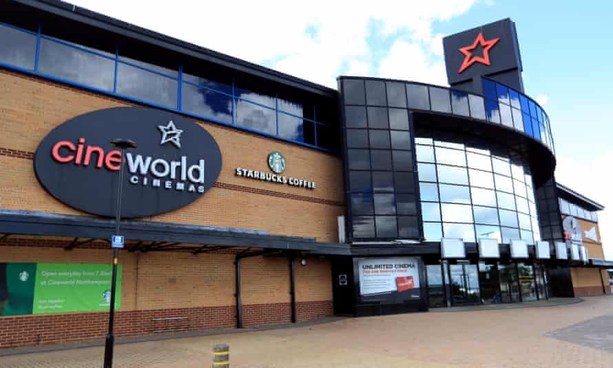 A closed Cineworld complex in London.
