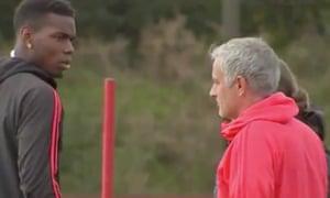 Paul Pogba and José Mourinho.