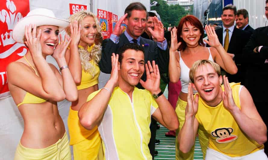 Prince Charles meets Steps at Capital FM's Party in the Park, July 1999