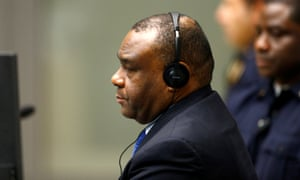 Jean-Pierre Bemba at the international criminal court in The Hague.