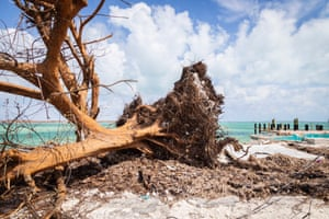 Hurricane Dorian and damage on Grand Bahama island. Experts say the climate crisis is exacerbating powerful storms