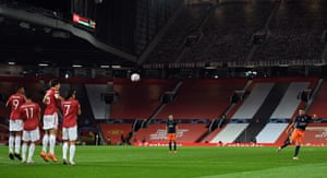 Istanbul Basaksehir's Deniz Turuc curls the ball home from a free-kick.