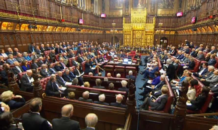 A packed House of Lords