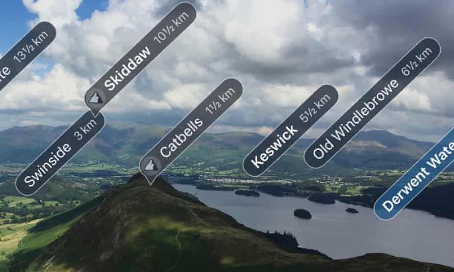 All mapped out … the Skyline feature from ViewRanger