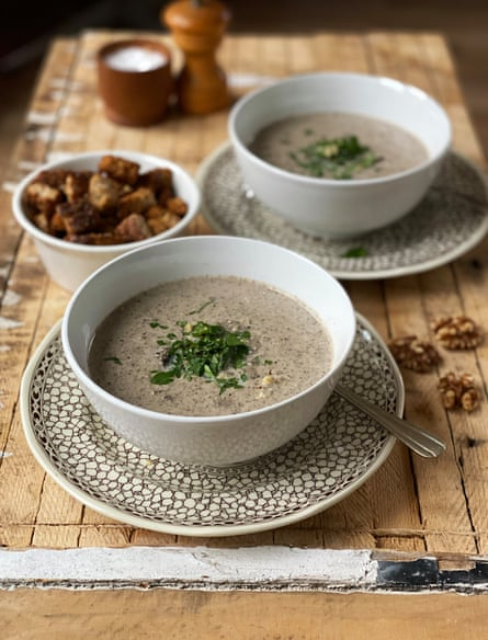 Mushroom and walnut soup from The Batch Cook Book by Sam Gates.