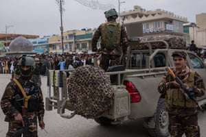 Security was tight during Nowruz celebrations in Mazar-e-Sharif, where hundreds of police and military personnel where deplayed, and many more were on standby. Helicopters and planes circled the city, but the day remained calm.