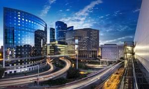 The La Défense business district in Paris