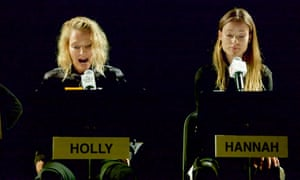 Uma Thurman and Olivia Wilde in Hannah and her Sisters at the TimesCenter, New York.
