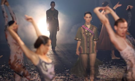 Dancers at Dior show.