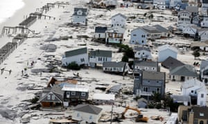 House crumble amid the destruction in the wake of Superstorm Sandy in New Jersey.