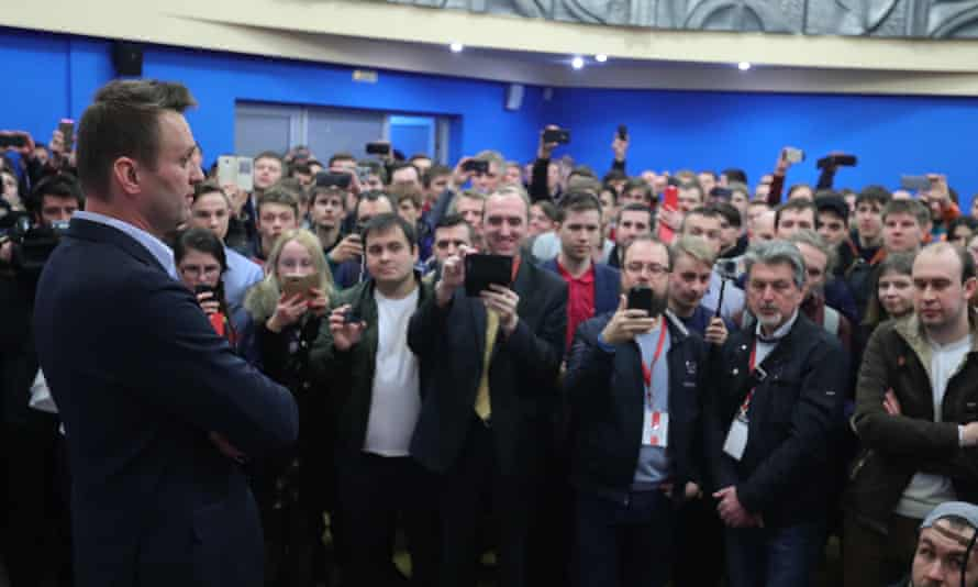 Alexei Navalny at the opening of his opens election campaign office in the city of Ivanovo earlier this month.