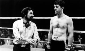 De Niro with Martin Scorsese on the set of Raging Bull.