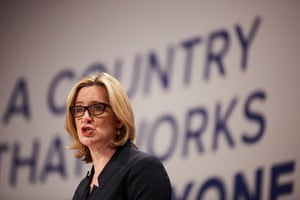 Home secretary Amber Rudd on day three of the Conservative party annual conference at Symphomy Hall and ICC in Birmingham.