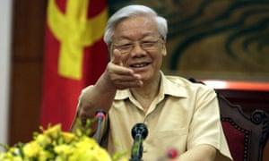 Vietnamse Communist party general secretary Nguyen Phu Trong