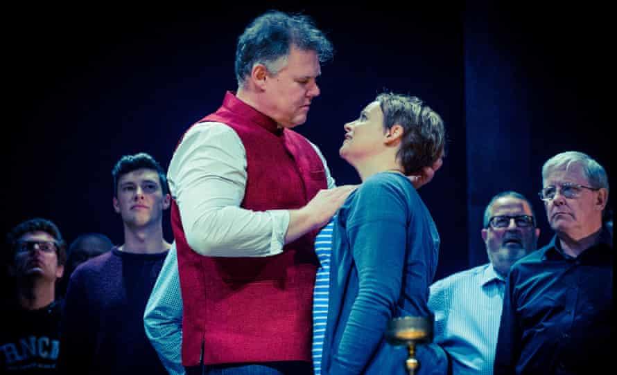 Bryan Register and Rachel Nicholls in rehearsals for Tristan und Isolde at Grange Park.