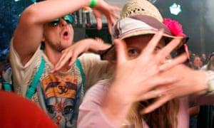Dancing to Gong at Glastonbury 2014