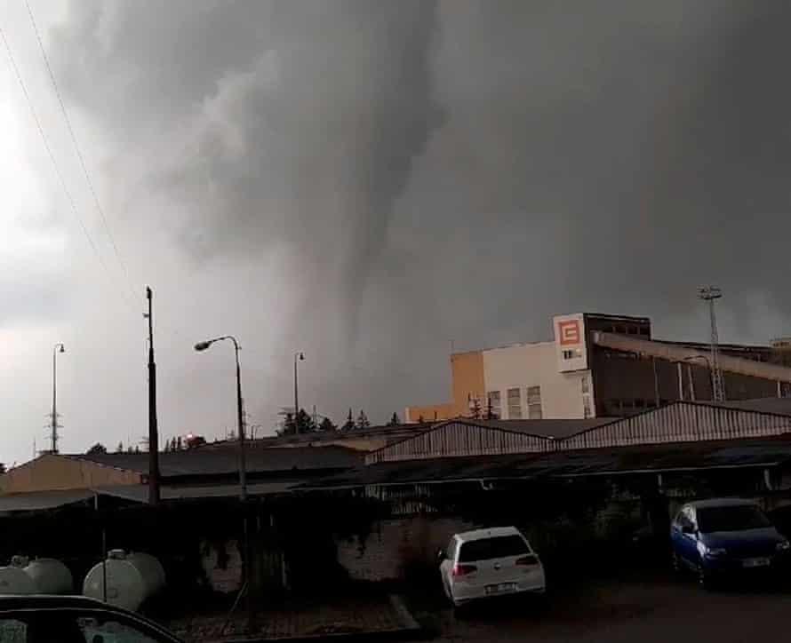 The tornado seen in Hodonín, Czech Republic
