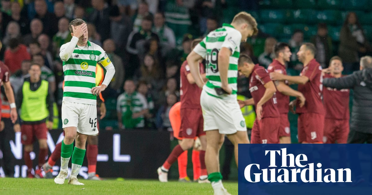 Celtic crash out of Champions League as Romanians Cluj silence Parkhead