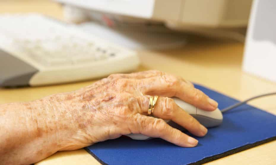 Fifty-four percent of people aged 65 and over said they shopped online.
