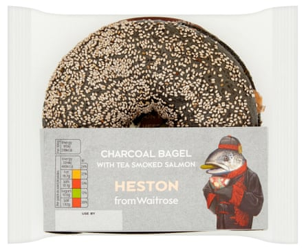 Dry and dull ... Waitrose charcoal bagel.