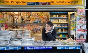 Newsagent kiosk in Brick Lane, London