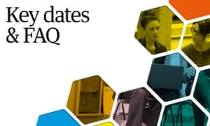 Key dates & FAQ, Public Service Awards 2019