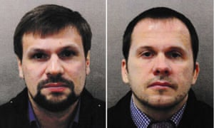 Ruslan Boshirov (left) and Alexander Petrov, the two suspects named by the police