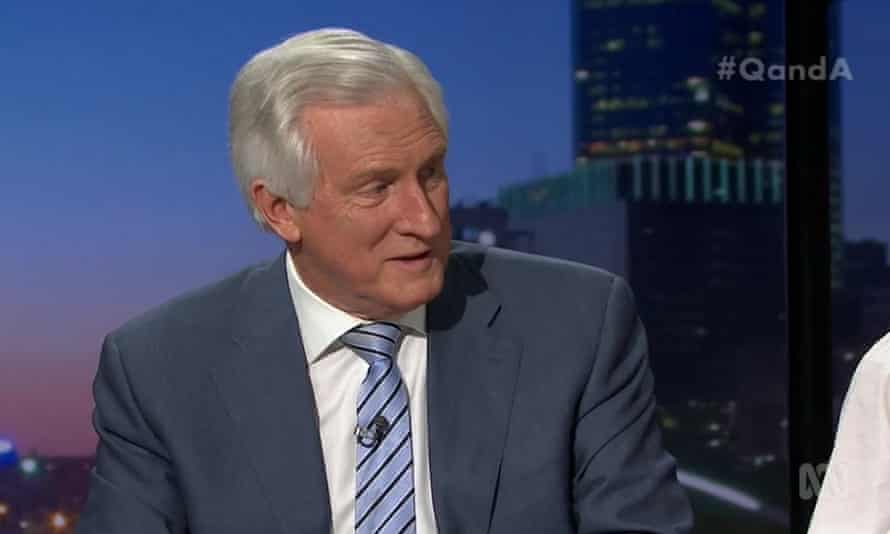 Former Liberal leader John Hewson on the ABC's Q&A program on Monday 22 October 2019.