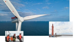 Composite of images of Grimsby and their transformation to offshore wind