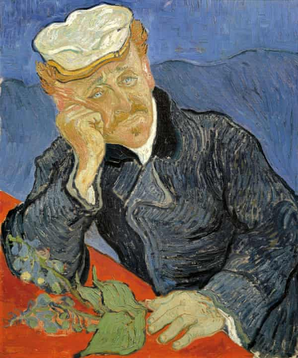 Portrait of Dr Gachet, by Vincent van Gogh. Gachet holds a foxglove, seen by some to suggest that he treated Van Gogh with digitalis.