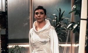 Jacqueline Pearce as Blake's Federation opponent, Servalan.